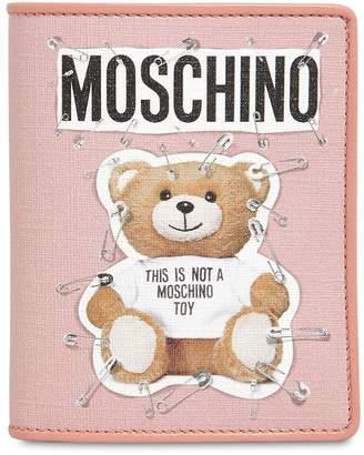 Moschino Teddy Bear Printed Snap Wallet