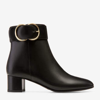 Bally Clarisse Black, Women's calf leather ankle boot with 45mm heel in black