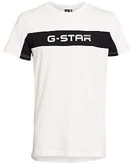 G Star Men's Logo Colorblock Tee