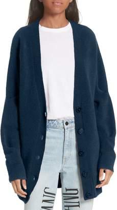 Alexander Wang Pinch Sleeve Wool Blend Cardigan