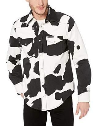 Calvin Klein Men's Long Sleeve Denim Western Button Down Shirt
