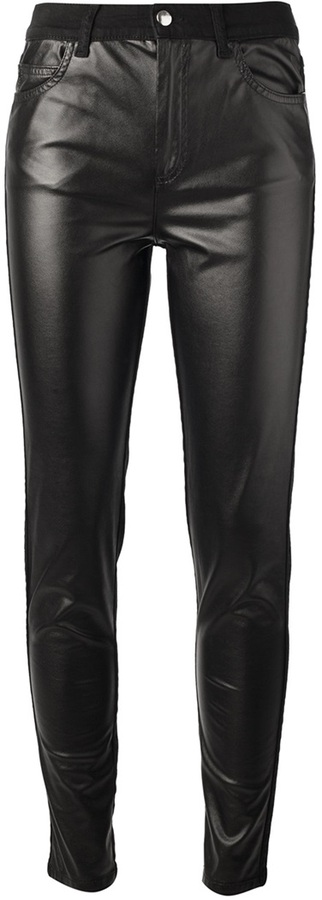 McQ faux leather front skinny trouser