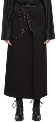 Maison Margiela Black Jersey Long Skirt