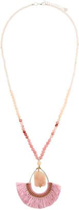 Nakamol Half-Circle Fringe Pendant Necklace
