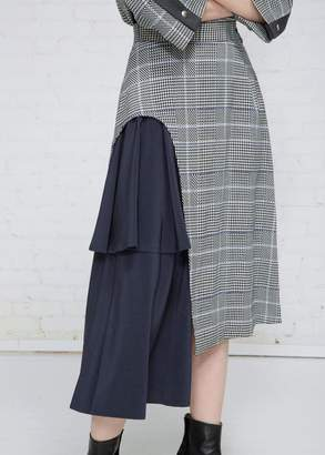 Ujoh Cut-off Flare Skirt