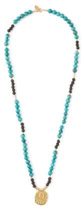 Elise Tsikis - Lerissos Turquoise Beaded Charm Necklace - Womens - Green