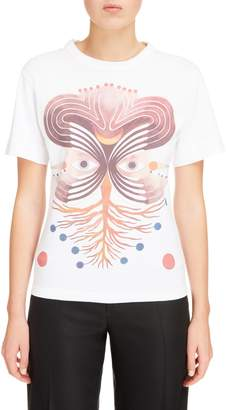 Chloé Eye Print Graphic Tee