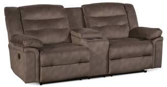 Serta Latitude Run Upholstery Charlestown Double Recliner Reclining Sofa