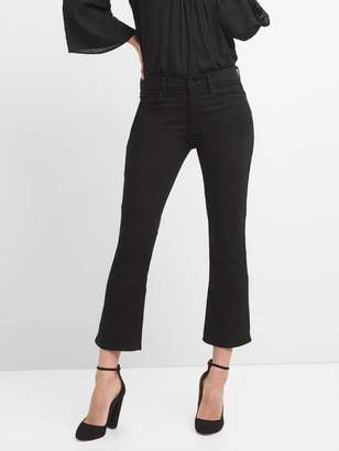 Gap High Rise Crop Flare Jeans in Everblack
