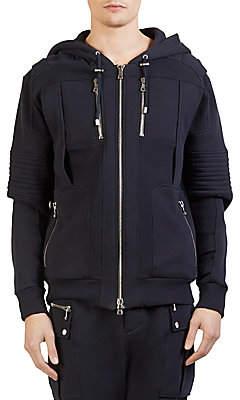 Balmain Men's Moto Hoodie Sweater