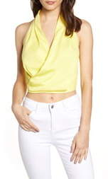 J.o.a. Halter Neck Crop Top