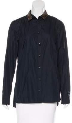 Akris Wool Button-Up Top