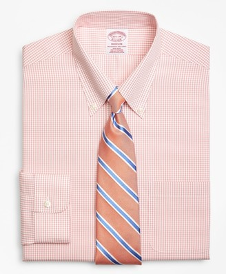 Brooks Brothers Madison Classic-Fit Dress Shirt, Non-Iron Double Mini-Windowpane