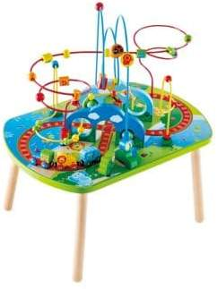 Hape Toys Little Kid's Jungle Adventure Railway Play Table