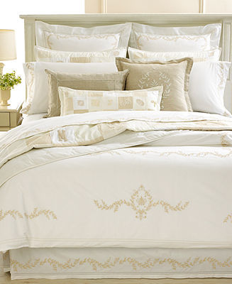 CLOSEOUT! Martha Stewart Collection Bedding, Trousseau Crest Collection