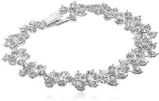 Anne Klein Tone and Crystal Flex Bracelet