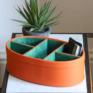 Marquis & Dawe Orange Faux Leather Storage Tidy