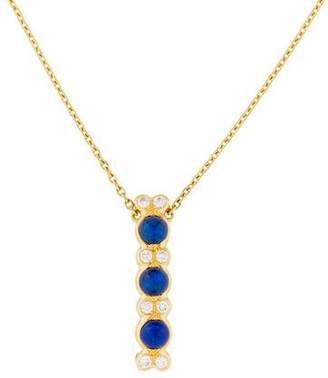 Chaumet 18K Diamond & Lapis Lazuli Pendant Necklace