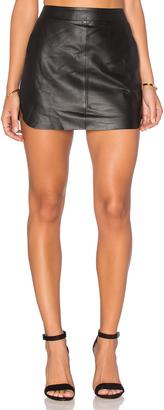 Karina Grimaldi Jacob Leather Skirt $217 thestylecure.com