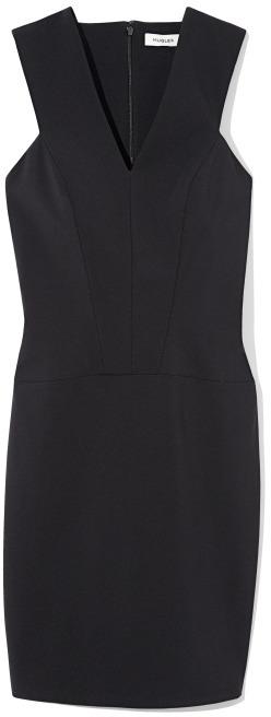 Thierry Mugler Noir V-Neck Sleeveless Dress