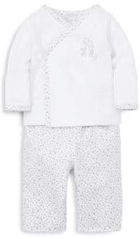 Kissy Kissy Baby's Silver Giraffe Two-Piece Top & Pants Set