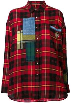 Ermanno Scervino contrast check shirt