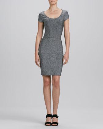 Erin Fetherston Erin by Scoop-Neck Heather Knit Dress