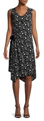 Ellen Tracy Ruched Floral Dress