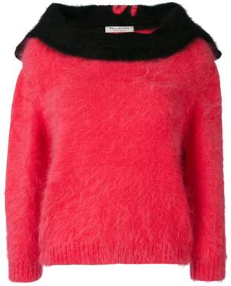 Philosophy di Lorenzo Serafini fluffy knit panelled jumper