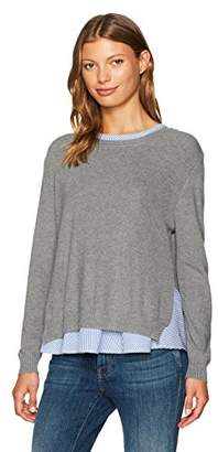 Lucca Couture Women's Peyton Detachable Twofer Crew Neck Sweater