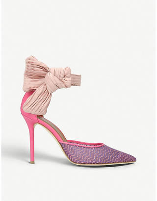 Malone Souliers X Ungaro Elle leather and woven pumps