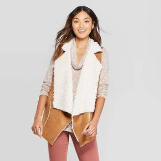 Knox Rose™ Women's Sleeveless Faux Suede With Fur Vest - Knox RoseTM Brown