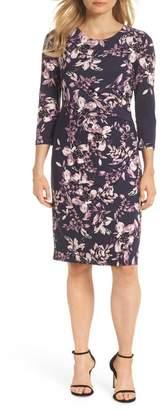 Eliza J Floral Sheath Dress