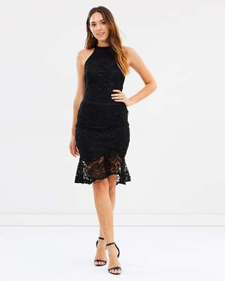 Lydia High Neck Fitted Lace Cocktail Dress