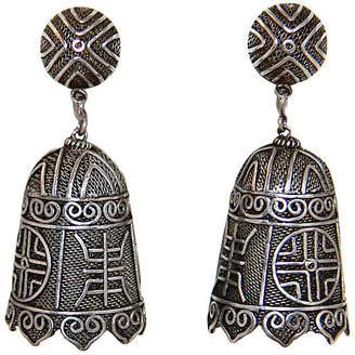 One Kings Lane Vintage Chinese Sterling Bell Shape Earrings