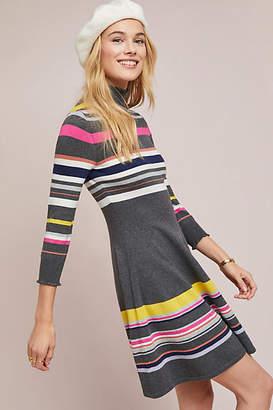 Maeve Striped Turtleneck Dress