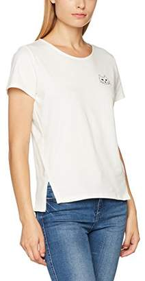 People Tree Peopletree Women's Mini Cat Tee T-Shirt, (Eco White)