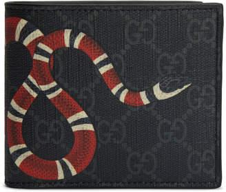 Gucci Kingsnake Wallet GG Supreme (8 Card Slots) Black