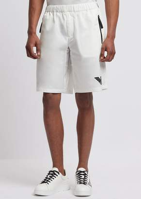 Emporio Armani R-Ea-Mix Shorts In Tech Twill With Reflective Details