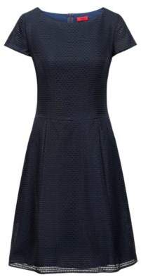 HUGO Layered A-line dress with fitted waist