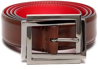 Christian Louboutin Eternalou Leather Belt - Mens - Brown