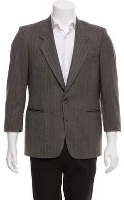 Givenchy Herringbone Two-Button Blazer