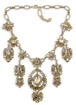 Badgley Mischka Belle by Fairytale Goldtone Multi-Stone Statement Necklace