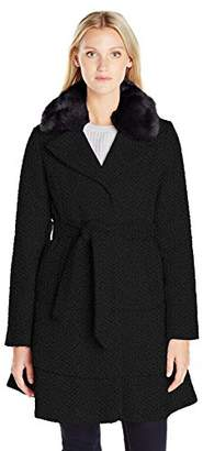 Betsey Johnson Women's Wool Skirted Coat $75.16 thestylecure.com