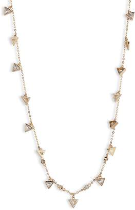 Nordstrom Shaky Crystal Triangle & Bezel Necklace