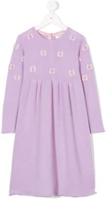 Cashmirino Cashmere floral knitted dress
