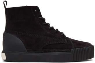 Alexander Wang Black Suede Perry High-Top Sneakers