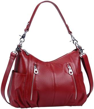 1d559085d8 HESHE Women s Leather Shoulder Handbags Cross Body Bags Hobo Totes Top  Handle Bag Satchel and Purse
