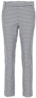 Tibi Beatle gingham cropped pants