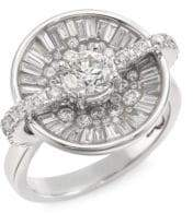 Ice Diamond Pleve Opus Ice Diamond& 18K White Gold Round Ring